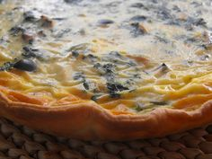 As receitas lá de casa: Tarte de salmão com espinafres