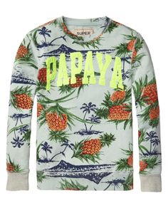 All over pineapple crew neck sweater - http://webstore-all.scotch-soda.com/boys/sweaters/crew-neck-sweater/14410140503.html?dwvar_14410140503_color=dessin%20P#start=1&cgid=53