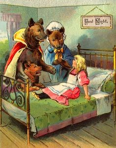 Goldilocks and the Three Bears book illustration Children's Book Illustration, Illustrations, Vintage Posters, Vintage Art, Charles Perrault, Childhood Stories, Goldilocks And The Three Bears, Bear Images, Ladybird Books