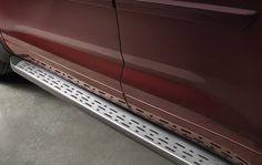 Toyota Highlander running boards are made from sturdy, roll-formed steel with an integrated skid-resistant step pad.  PT738-48120