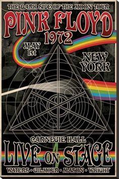 Pink Floyd 1972 Carnegie Hall Impressão em tela esticada