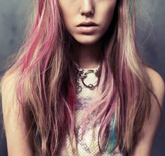 colorful streaks I really wish my hair looked like this..