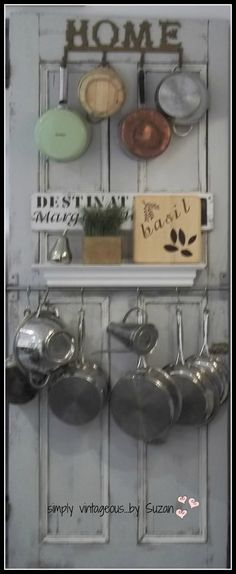 simply vintageous...by Suzan: BEFORE & AFTERS-----LOVE-LOVE-LOVE this. I have to do this for my itty bitty teeny weeny kitchen.
