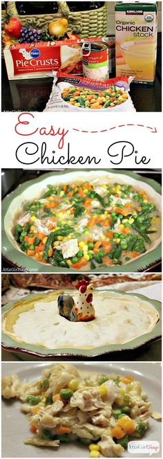 5-Ingredient Easy Chicken Pot Pie Recipe. No chopping, no rolling out dough, no making a roux. This is comfort food quick, a great weeknight recipe.