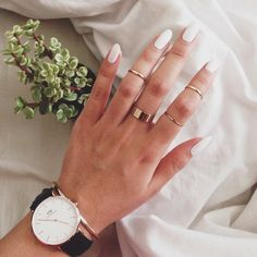 A white mani in the summer is one of our favorite things!