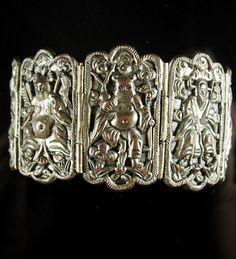 Antique Chinese Bracelet Figural Goddess by vintagesparkles
