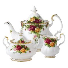 Vintage New Country Roses Royal Albert TCup Set 2pc New In Box