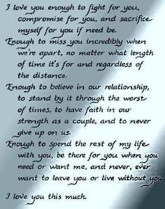 I love you enough..... by Cirilla