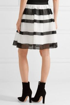 MICHAEL Michael Kors - Paneled Crocheted Lace Skirt - White - US14