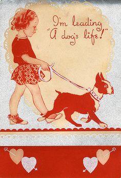 Vintage Valentine--Leading A Dog's Life  visa finsbry