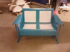 Powdercoated Restored Vintage Metal Patio Gliders - Vintage Metal Gliders,Old Fashioned Metal Chairs And Retro Metal Tables!