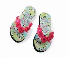 27107be3e861 Wild Paisley Flower Flops by Mud Pie