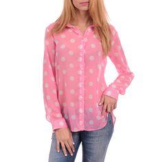 Πουά ροζ πουκάμισο με μακρύ μανίκι 42,50€ #shirt #pink #womenstyle #womenfashion