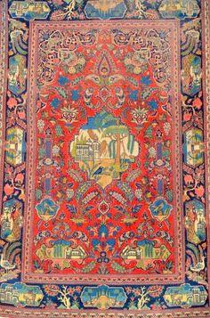 Persian Royal Kurk Kashan 5x4.3 feet