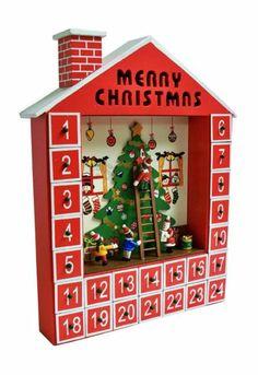 Premier Wooden House Advent Calendar,Christmas Tree and Elves 38Cm #AC111391 | eBay