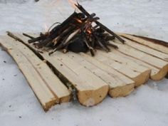 How to Build a Campfire On Snow