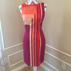 Catherine Malandrino dress Beautiful spring/ colors  in this great Catherine Malandrino dress. Size 4. Zipper on the side. Light fabric, dress is fully lined. Catherine Malandrino Dresses Midi