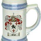 Pugh Coat of Arms / Family Crest stein mug
