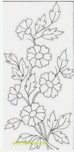 Saree Painting Designs, Glass Painting Designs, Fabric Paint Designs, Painting Patterns, Fabric Painting, Border Embroidery Designs, Embroidery Flowers Pattern, Hand Embroidery Stitches, Diy Embroidery