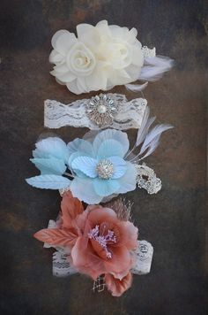 vintage newborn headbands...except for me instead of my non existent baby