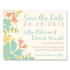 Bloom Save the Date - Unique Save-the-Date by The Green Kangaroo