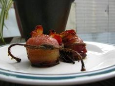 Roasted Figs and Bacon with Honey #appetizer #glutenfree #snack