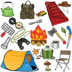 camping clip art free downloads stock illustration royalty free rh pinterest com Camping Clip Art Camping Clip Art