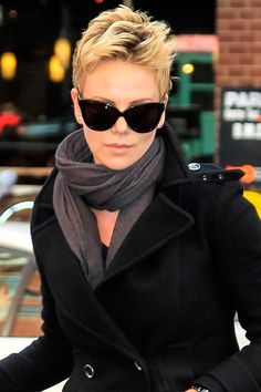 Charlize Theron has gone everywhere in her style journey from long locks to super short, looking especially fabulous and cool with this cropped cut. Change it up ladies! You never know how good you'll look with something different.