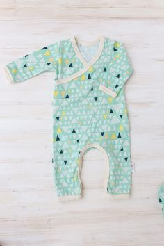 Beautiful baby kimono romper made from a super soft and stretchy Art Gallery knit fabric. The matching beanie style hat makes this the perfect outfit to
