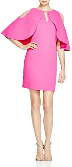 Trina Turk Redford Crepe Overlay Dress