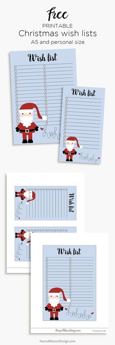 Christmas wish list printable planner inserts | A5 and Personal size | #christmas #kidswishlists #plannerinsert #printables