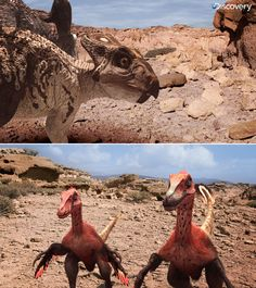 Protoceratops Velociraptor DR by Swordlord3d