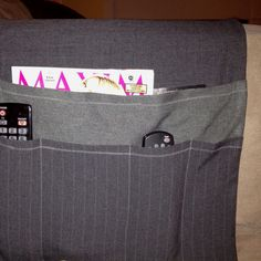 """Manly remote control holder. I like it. Carl didn't. So much for """"manly"""" huh?"""