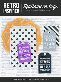 Retro Inspired Printable Halloween Gift Tags - simple as that