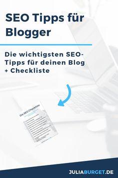 SEO Tipps für Blogger und deine Webseite. In diesem Beitrag wird SEO einfach erklärt, inkl. SEO Checkliste zum Herunterladen. SEO für Anfänger. SEO Tipps für tolle Suchergebnisse in einer Suchmaschine. Wenn du die grundlegenden SEO Tipps für deine Webseite beachtest, kannst du viele Menschen mit deinen Inhalten erreichen. Blog Tipps und Reichweite aufbauen für Blogger.     #blogtipps #seotipps #seo Inbound Marketing, Marketing Trends, How Does Seo Work, Seo Guide, Seo Keywords, Digital Art Tutorial, Online Advertising, Search Engine Optimization, Pinterest Marketing