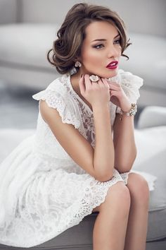 White Lace + Red Lips