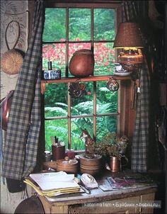 Tasha Tudor, a simple, special country-life. Ventana Windows, Vie Simple, Tudor House, Tudor Cottage, Cottage Farmhouse, Farmhouse Kitchens, Modern Farmhouse, Primitive Kitchen, Window View