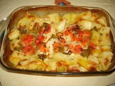 Cod Recipes, Cooking Recipes, Cod Fish, Portuguese Recipes, Hawaiian Pizza, Lasagna, Coco, Macaroni And Cheese, Seafood