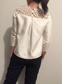 Violette blouse in organza