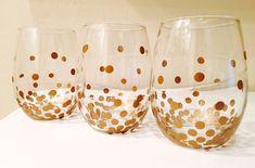 DIY Wine Glasses – Gold Dot Kate Spade Knock Off