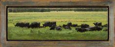 "A Line of Black Cows - 5"" x 17"" - $2800"