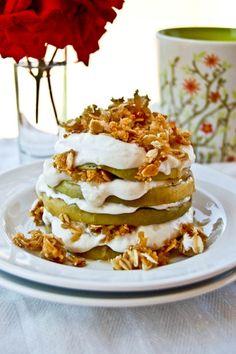 Grilled apple stacks