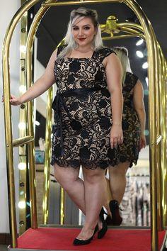 vestido de festa plus size curto 5