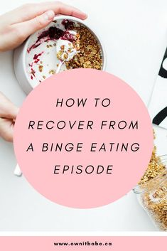 If you ever suffered from binge eating, you probably know that the aftermath of a binge is exhausting physically and mentally. Here is what to do if a binge happens and what to do to prevent a future binge eating episode. Bulimia Recovery, Eating Disorder Recovery, Stop Overeating, Overeating Disorder, Stress Eating, Eating At Night, Get Thin, Binge Eating, Intuitive Eating