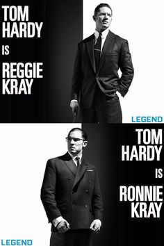Legend - Tom Hardy is Reggie Kray and Tom Hardy is Ronnie Kray #GangsterMovie #GangsterFlick