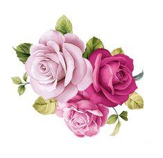Beautiful Flower Drawings, Beautiful Flowers, Flower Frame, Flower Art, Decoupage Vintage, Flower Clipart, Rose Art, Bunch Of Flowers, Botanical Flowers