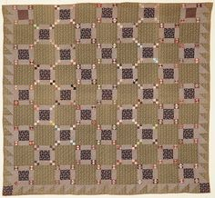 Puss in the Corner Quilt: Circa 1870; Pa.