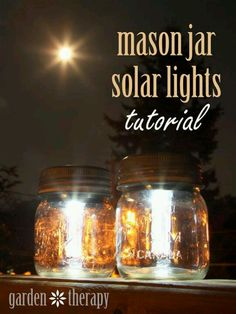 Mason jar solar lights - would be fun to add to camper