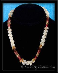 Kipona Niihau Style Kahelelani & Momi Shell Lei Necklace