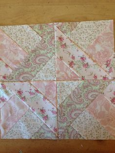 My use of a greater technique making half square triangle unites from strip pieced… Shabby Chic Quilt Patterns, Shabby Chic Quilts, Quilt Block Patterns, Pattern Blocks, Quilt Blocks, Quilting Tutorials, Quilting Projects, Quilting Designs, Quilting Templates